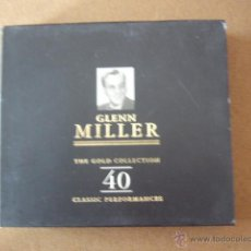 CDs de Música: GLENN MILLER. THE GOLD COLLECTION 40. 2 CD CON ESTUCHE.. Lote 49013379