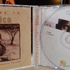 CDs de Música: VOYAGE TO AFRICA - AUTHENTIC MUSIC FUSION - CD - WORLD MUSIC / FUSION / CHILL OUT / ÁFRICA. Lote 49022390