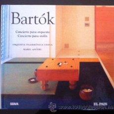 CDs de Música: BELA BARTÓK - DISCO LIBRO EL PAÍS - CONCIERTO PARA ORQUESTA Y CONCIERTO PARA VIOLÍN. Lote 49054479