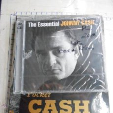 CDs de Música: MUSICA CD DOBLE + LIBRO: THE ESSENTIAL JOHNNY CASH + POCKET CASH PRECINTADOS MJ. Lote 49096313