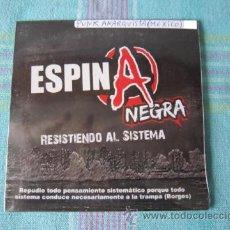 CDs de Música: CD - PUNK ANARQUISTA - ESPINA NEGRA (RESISTIENDO AL SISTEMA) -2012 - IMPORTACIÓN MEXICO - PRECINTADO. Lote 49096909
