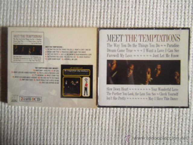 CDs de Música: THE TEMPTATIONS - MEET THE TEMPTATIONS / THE TEMPTATIONS SING SMOKEY CD 2 ALBUMS - Foto 2 - 49158103