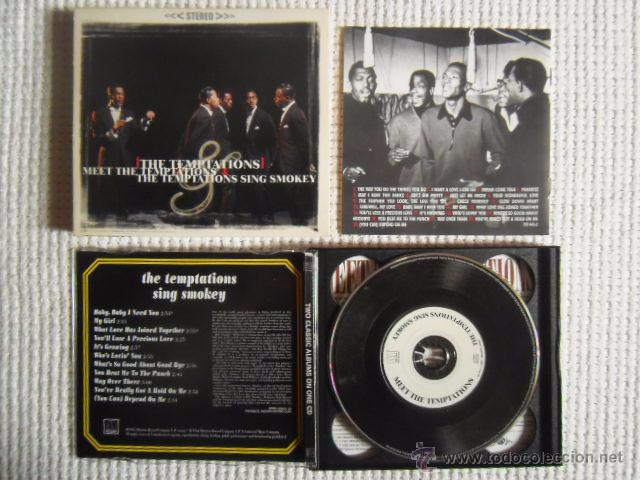 CDs de Música: THE TEMPTATIONS - MEET THE TEMPTATIONS / THE TEMPTATIONS SING SMOKEY CD 2 ALBUMS - Foto 3 - 49158103