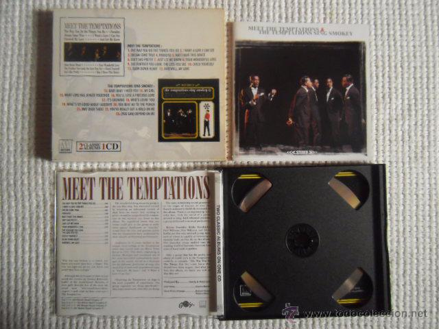 CDs de Música: THE TEMPTATIONS - MEET THE TEMPTATIONS / THE TEMPTATIONS SING SMOKEY CD 2 ALBUMS - Foto 4 - 49158103