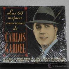 CDs de Música: CARLOS GARDEL CD DOBLE LAS 60 MEJORES CANCIONES. Lote 49180288