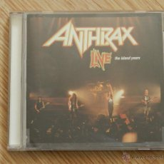 CDs de Música: CD ANTHRAX LIVE THE ISLAND YEARS ISLAND RECORDS 1994 THRASH METAL. Lote 49285254