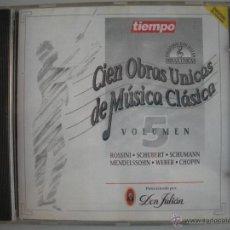 CDs de Música: MAGNIFICO CD DE - CIEN OBRAS UNICAS DE MUSICA CLASICA - VOL. 5-. Lote 49467026