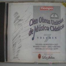 CDs de Música: MAGNIFICO CD DE - CIEN OBRAS UNICAS DE MUSICA CLASICA - VOL. 7-. Lote 49467154