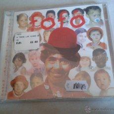 CDs de Música: CD NUEVO PRECINTADO FOFÓ A TODOS LOS NIÑOS DEL MUNDO LOS PAYASOS DE LA TELE ARAGÓN. Lote 58338864