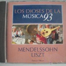 CDs de Música: MAGNIFICO CD DE - LOS DIOSES DE LA MUSICA 93 - MENDELSSOHN - LISZT -. Lote 49478604