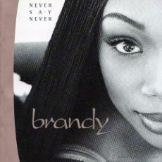 CDs de Música: CD BRANDY – NEVER SAY NEVER 1998 POP DE LOS 90'S. Lote 49511210