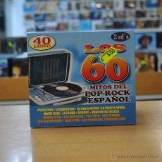 CDs de Música: VARIOS - LOS 60 - MITOS DEL POP ROCK ESPAOL - 2 CD. Lote 49556232