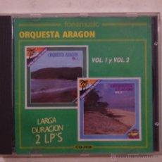 CDs de Música: ORQUESTA ARAGON VOL.1 Y VOL. 2 - CD 1990. Lote 49744814