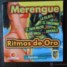 CDs de Música: CD MERENGUE - RITMOS DE ORO - LA OPINION - CARATULA FINA DE CARTON (1K). Lote 49767051