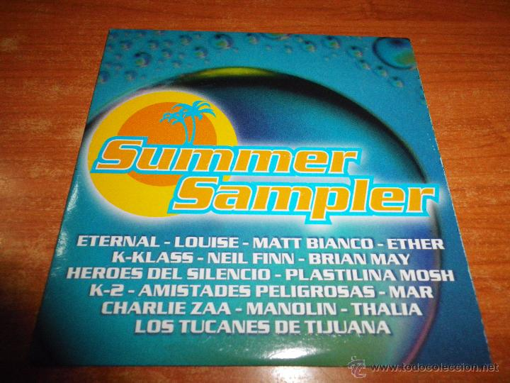 SUMMER SAMPLER CD ALBUM PROMO CARTON HEROES DEL SILENCIO MATT BIANCO THALIA (REMIX) BRIAN MAY QUEEN (Música - CD's Pop)