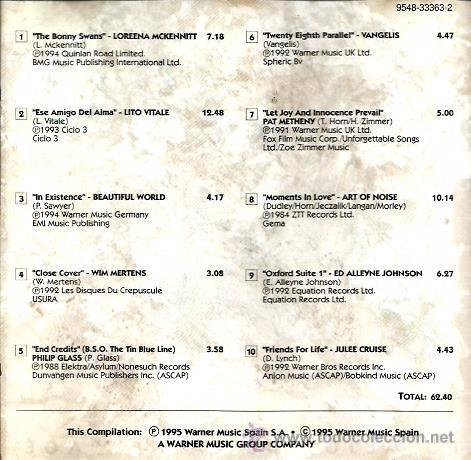 CDs de Música: CD AL OTRO LADO, LO MEJOR DE LA NEW AGE: VANGELIS, WIM MERTENS, PHILIP GLASS, ART OF NOISE, ETC - Foto 2 - 49776304
