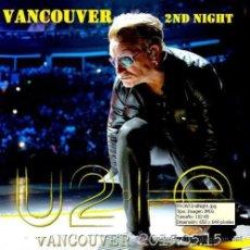 CDs de Música: U2 - ROGERS ARENA, VANCOUVER, CANADA, MAY 15, 2015 (2 CD). Lote 49858008