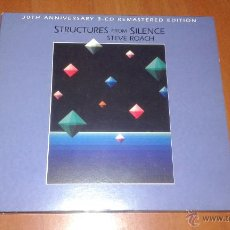 CDs de Música: STEVE ROACH , STRUCTURE FROM SILENCE 30TH ANNIVERSARY REMASTERED EDITION TRIPLE CD. Lote 49930599