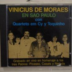 CDs de Música: VINICIUS DE MORAES EN SAO PAULO - GRABADO EN VIVO EN HOMENAJE A LOS TRES PABLOS - CD 1990. Lote 49957458