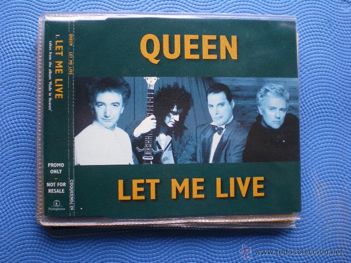 QUEEN LET ME LIVE CD SINGLE UK 1995 1TEMA.PROMOCIONAL.EMI. PDELUXE (Música - CD's Pop)