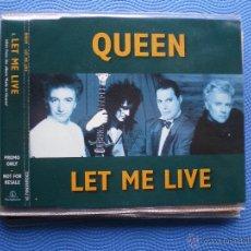 CDs de Música: QUEEN LET ME LIVE CD SINGLE UK 1995 1TEMA.PROMOCIONAL.EMI. PDELUXE. Lote 49998691