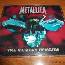 CDs de Música: METALLICA THE MEMORY REMAINS CD SINGLE PROMO UK PORTADA PLASTICO 1997 1 TEMA RARO. Lote 50063050