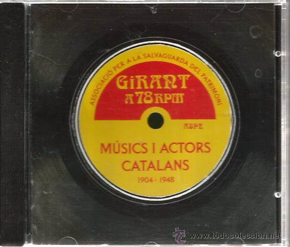 CD MUSICS I ACTORS CATALANS : CONXITA SUPERVIA, ENRIC BORRAS, CRAZY BOYS, DEMON´S JAZZ, ORPHEUS (Música - CD's Otros Estilos)
