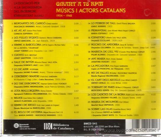 CDs de Música: CD MUSICS I ACTORS CATALANS : CONXITA SUPERVIA, ENRIC BORRAS, CRAZY BOYS, DEMON´S JAZZ, ORPHEUS - Foto 2 - 50066436