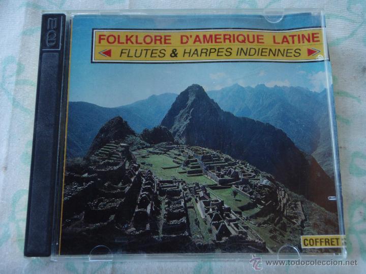 FOLKLORE D'AMERIQUE LATINE ( FLÛTES ET HARPES INDIENNES ) CD DOBLE 1990-VOGUE (Música - CD's Latina)