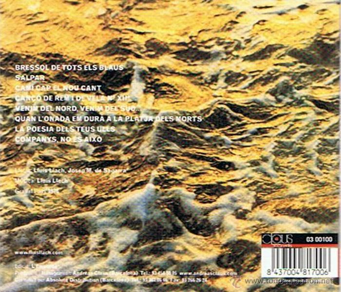 CDs de Música: CD EL MEU AMIC EL MAR LLUÍS LLACH - Foto 2 - 50087941