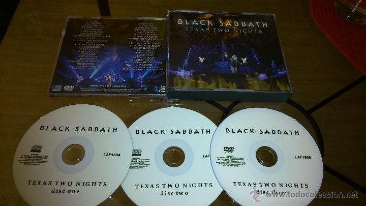 BLACK SABBATH TEXAS TWO NIGHTS BOX 2CD-R. 1 DVD-R (Música - CD's Heavy Metal)