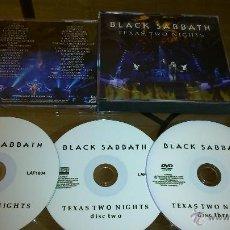 CDs de Música: BLACK SABBATH TEXAS TWO NIGHTS BOX 2CD-R. 1 DVD-R . Lote 50088105