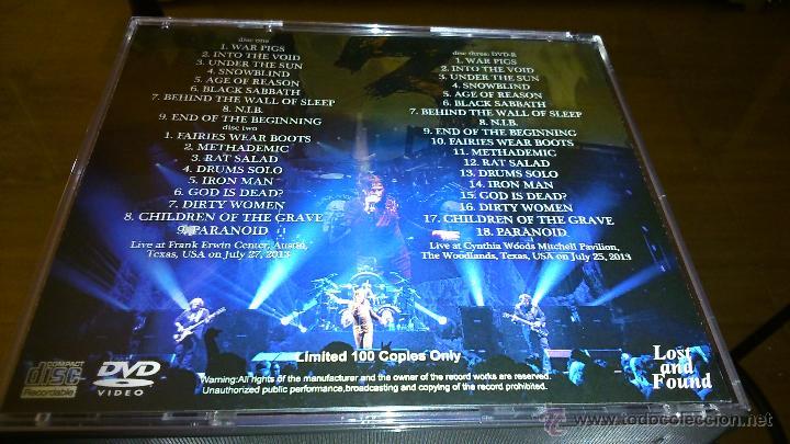 CDs de Música: Black Sabbath Texas Two Nights box 2cd-r. 1 dvd-r - Foto 2 - 50088105