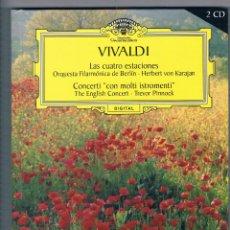 CDs de Música: VIVALDI GRAN SELECCIÓN DEUTSCHE GRAMMOPHON 2 CD LAS CUATRO ESTACIONES CONCERTI CON MOLTI ISTROMENTI. Lote 50093243