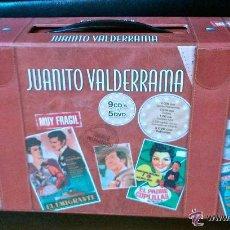 CDs de Música: JUANITO VALDERRAMA * MALETA COMPLETA CON TODAS SUS PELÍCULAS 5 DVD+ 9 CD * PRECINTADA. Lote 104103584
