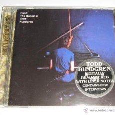 CDs de Música: TODD RUNDGREN - RUNT. THE BALLAD OF TODD RUNDGREN - CD REMASTERIZADO Y CON LIBRETO. Lote 50205883