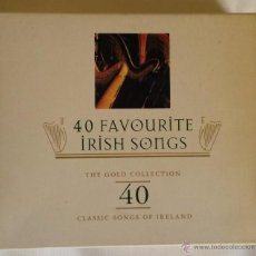 CDs de Música: IRISH SONGS. 40 FAVOURITE SONGS. THE GOLD COLLECTION. CLASSIC SONGS OF IRELAND. CD DOBLE.. Lote 50215172