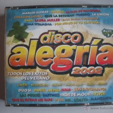 CDs de Música: MAGNIFICO CD - DISCO ALEGRIA 2002 - QUE CONSTA DE 4 CDS- TODOS LOS EXITOS DEL VERANO -. Lote 50307132