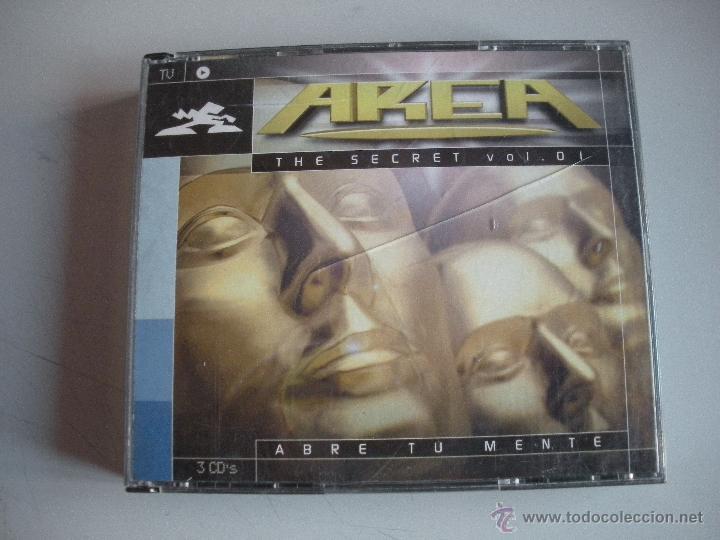 MAGNIFICO TRIPLE CD - A R E A - THE SECRET VOL . 1 -- ABRE TU MNETE -- (Música - CD's Techno)