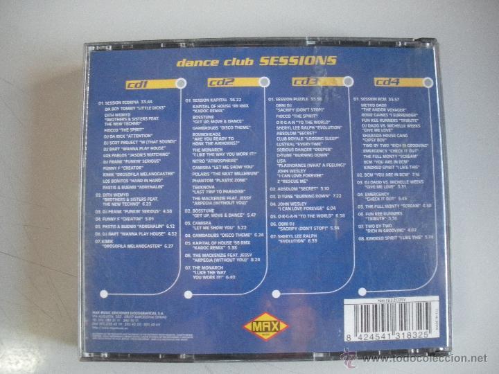 CDs de Música: MAGNIFICO CD - DANCE CLUB SESIONS - 4 DISCOTECAS - 4 SESIONS - 4 DJ`S - - Foto 2 - 50307764
