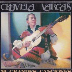 CDs de Música: CHAVELA VARGAS - 30 GRANDES CANCIONES. Lote 50365075