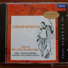CDs de Música: MAHLER LA CANCION DE LA TIERRA DAS LIED VON DER ERDE. Lote 50377799