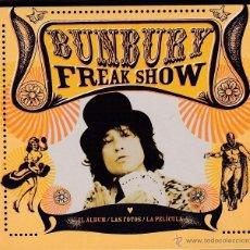 CDs de Música: BUNBURY - FREAK SHOW - EDICIÓN DIGIPAK CD + DVD. Lote 50395356