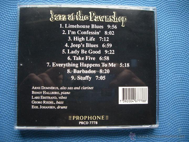 CDs de Música: ARNE DOMNERUS & FRIENDS JAZZ AT THE PAWNSHOP CD ALBUM DINAMARCA 1990 PDELUXE - Foto 3 - 50429179