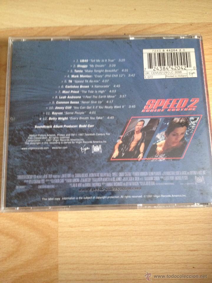 CDs de Música: SPEED 2, CD BSO SOUNDTRACK - Foto 2 - 50447036