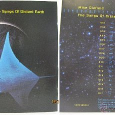 CDs de Música: CD--MIKE OLDFIELD--THE SONGS OF DISTANT EARTH. Lote 96565848