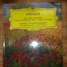 CDs de Música: DOBLE CD VIVALDI,LAS 4 ESTACIONES, CONCERTI CON MOLTI INSTRUMENTI.DEUTSCHE GRAMMOPHON. Lote 50460155