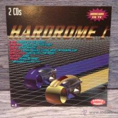 CDs de Música: HARDROME I. DANCE MUSIC. DOBLE CD / TYREL - 1995. 20 TEMAS. CALIDAD LUJO. DIFÍCIL.. Lote 50477130