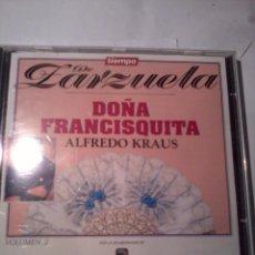 CDs de Música: CD. TIEMPO DE ZARZUELA DOÑA FRANCISQUITA . ALFREDO KRAUS. VOLUMEN 2.. Lote 50553278