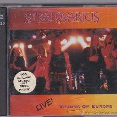 CDs de Música: STRATOVARIUS - VISIONS OF EUROPE - LIVE - 2 CDS. Lote 50570383